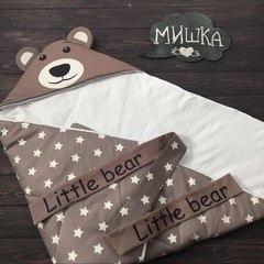 Летний конверт одеяло Мишка звезда