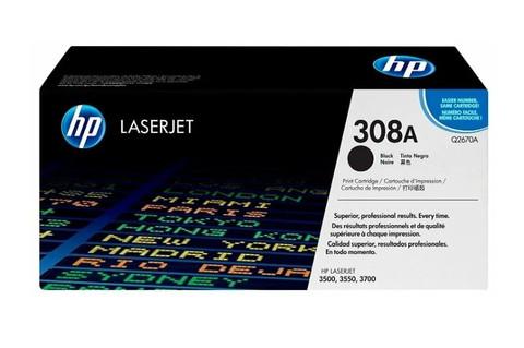 Оригинальный картридж HP Q2670A (№ 308A), чёрный
