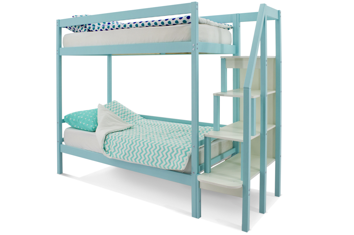 Двухъярусная кровать «Svogen» мятный