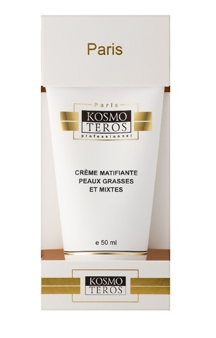 Крем для жирной и комбинированной кожи с матирующим эффектом/ Creme Matifiante Peaux Grasses et Mixtes Kosmoteros (Космотерос), 50 мл