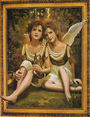 Алмазная Мозаика 5D 40x50 Ангелы в волшебном лесу (арт.LT0606)