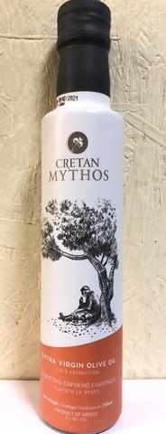 Оливковое масло Cretan Mythos Extra Virgin с острова Крит 250 мл стекло