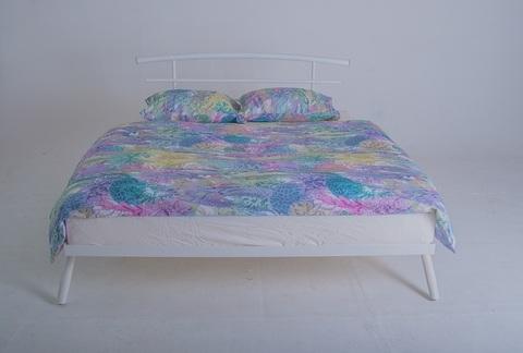 Кровать двуспальная Сакура металлическая 160х200 белый