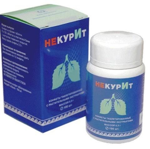 Конфеты таблетированные с растительными экстрактами НекурИт
