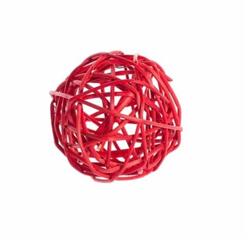Плетеные шары из ротанга (набор:6 шт., d8см, цвет: красный)