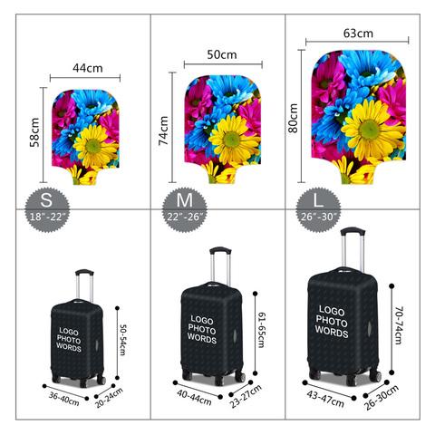 Чехол для чемодана - Цветы