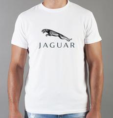 Футболка с принтом Ягуар (Jaguar) белая 001