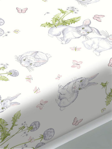 Постельное белье  -Кролики- евро на молнии Наволочка 50х70 см 2 шт  Простынь на резинке 180х200х26 см  Пододеяльник 200х215 см