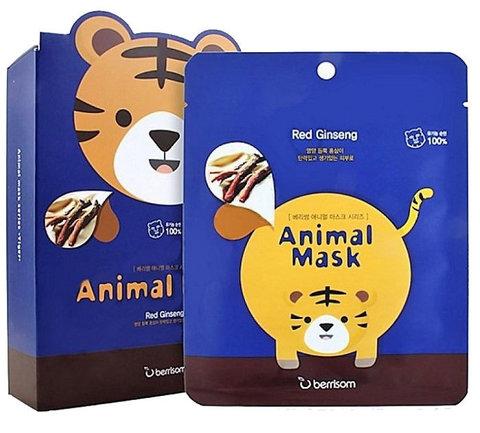 Маска тканевая с экстрактом женьшеня Berrisom Animal Mask Series Tiger