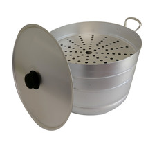 Мантоварка алюминиевая 13 литров с 2 сетками диаметр 34 см до 2.4 кг Манты-Казан Калитва 181325