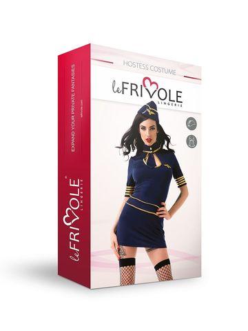 Эротический костюм для ролевых игр Le Frivole Стюардесса премиум класса, размер S