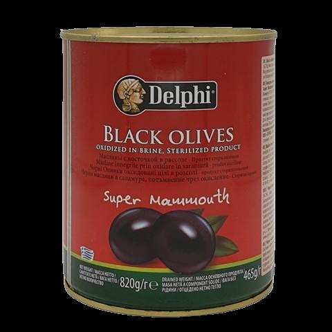 Маслины с косточкой в рассоле Super Mammouth DELPHI
