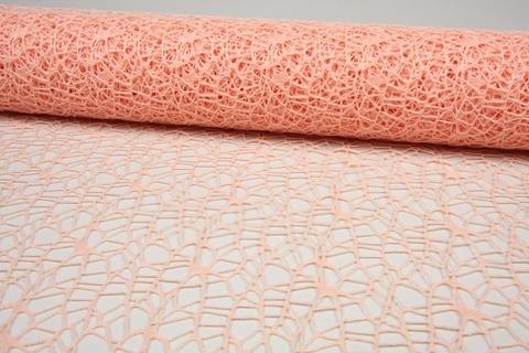 Сетка Ажурная (размер:50 см х 5 ярд) Цвет:персиковый