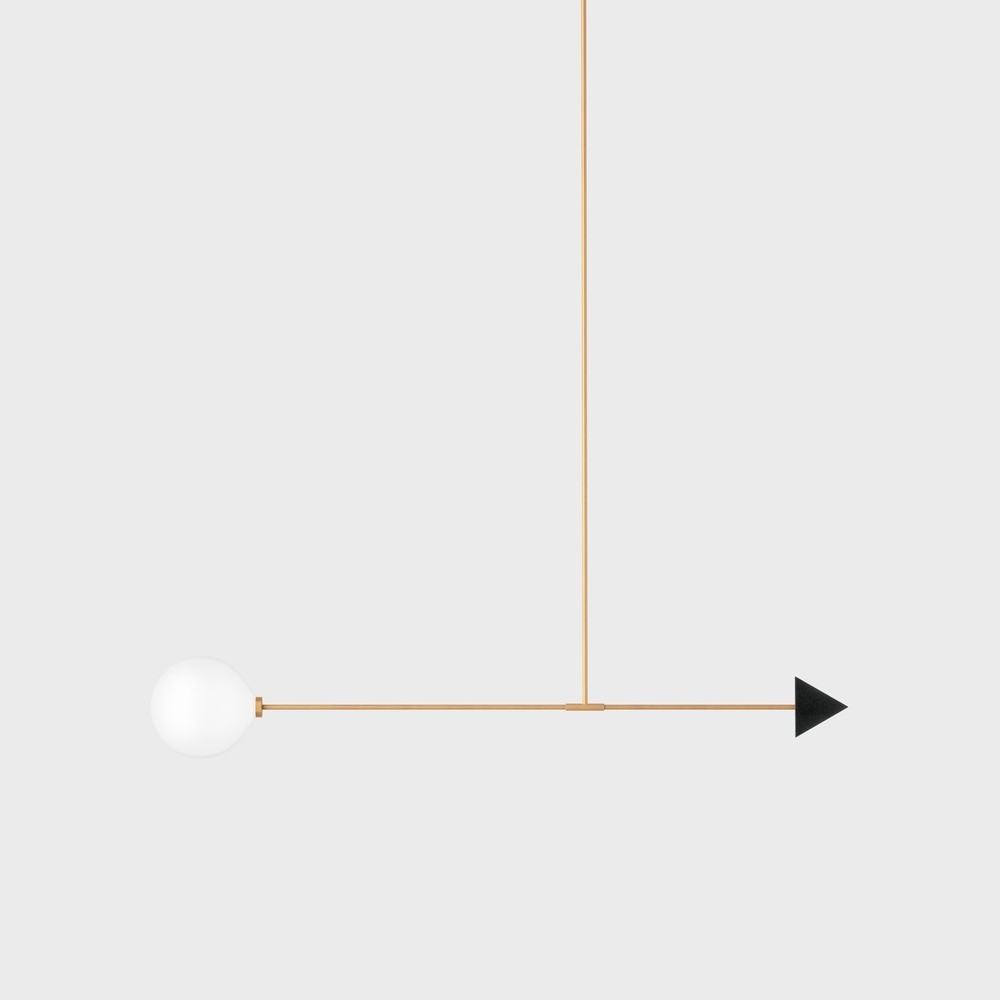 Подвесной светильник Libra trig черный гранит - вид 1
