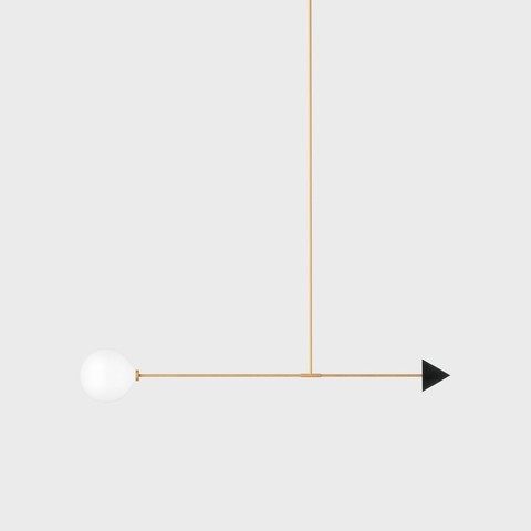Подвесной светильник Libra trig черный гранит