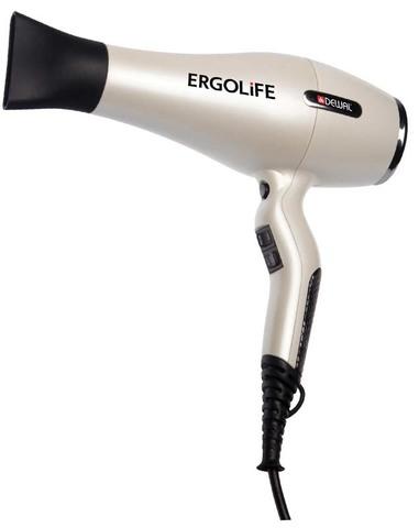 Фен Dewal ErgoLife, 2200 Вт, ионизация, 2 насадки, белый
