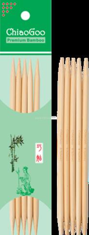 Чулочные спицы ChiaoGoo светлый бамбук 13 см