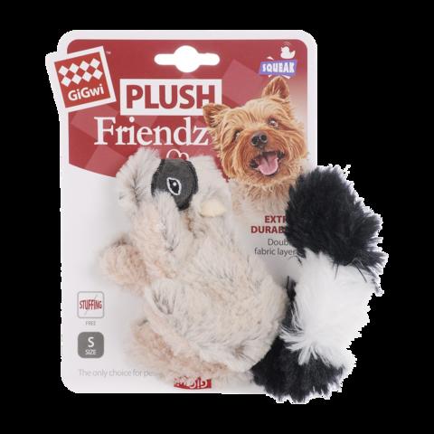 GiGwi Игрушка для собак Енот с пищалкой