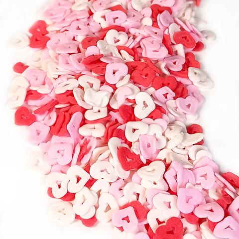Посыпка Сердечки белые/розовые/красные, 50гр