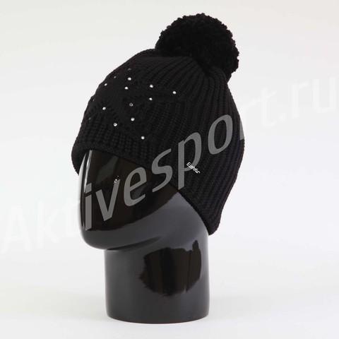 Картинка шапка Eisbar chantal pompon crystal 009 - 1