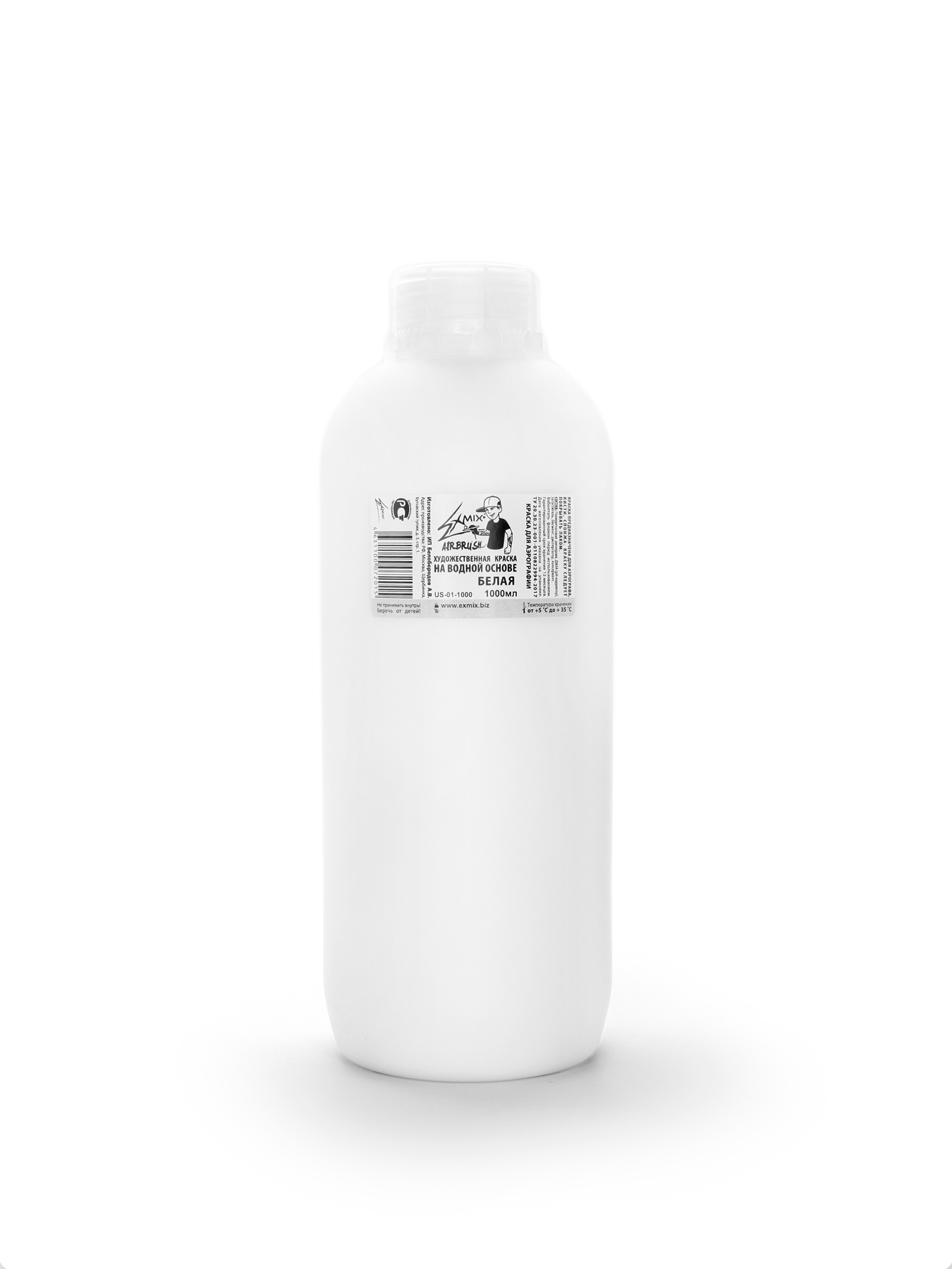 Краска Exmix Краска укрывистая Exmix 01 Белый 1000 мл US-01-1000.jpg