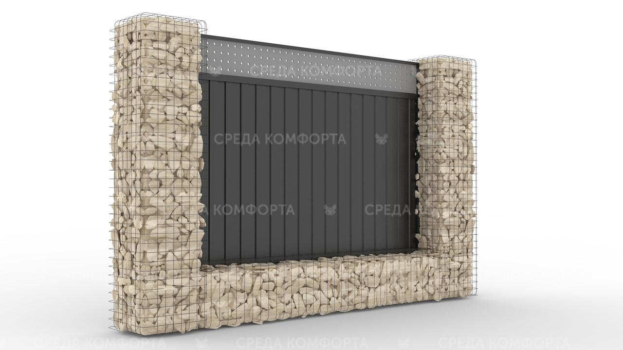 Забор из профлиста 2500х2000 мм ZBR0036 (столб для забора продается отдельно)
