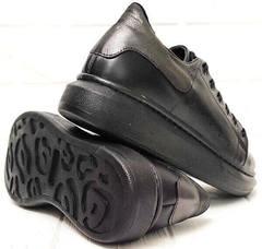 Черные сникерсы кроссовки женские на толстой подошве EVA collection 0721 All Black.