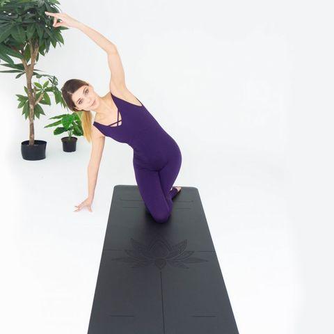 Каучуковый коврик для йоги Art-Lotos Gray