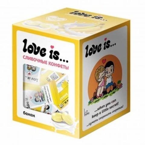 Конфеты Love is… жевательные Сливочные со вкусом банана 105 г