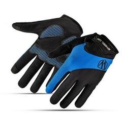 Велосипедные перчатки Wheel Up длинные (синие)