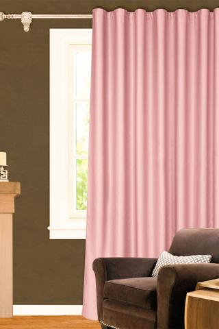 Готовая штора креп Дениз светло-розовый