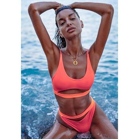 Секси купальник в спортивном стиле Miamelle оранжевый
