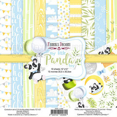 Набор скрапбумаги My little panda boy 30,5x30,5 см 10 листов