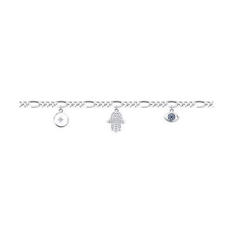 94050769 - Браслет из серебра с подвесками
