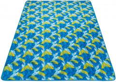 Коврик-покрывало Kingcamp 4707 PicnicBlanket Palm Blue 200x150