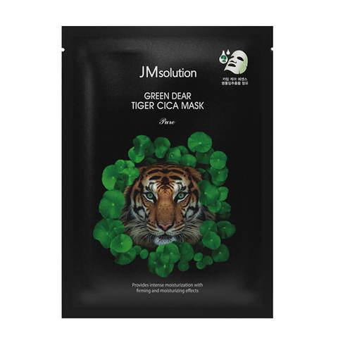 JMsolution Green Dear Tiger Cica Mask регенерирующая маска для лица с центеллой