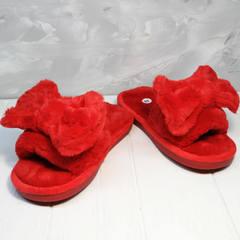 Домашние тапочки женские красные с бантом Yes Mile A-08 Red Bow