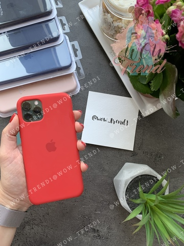 Чехол iPhone 11 Pro Max Silicone Case (product) /red/ красный original quality