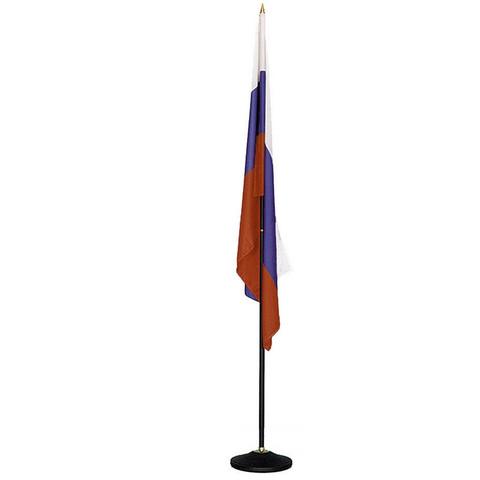 Флаг России напольный с черным флагштоком (135x90 см/223 см)
