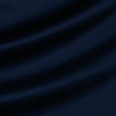 Шёлковый атлас с эластаном тёмно-синего цвета