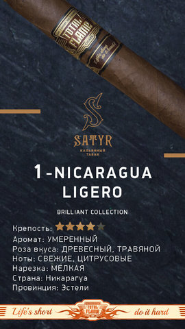 Табак Satyr Nicaragua Ligero (Никарагуа) 100г