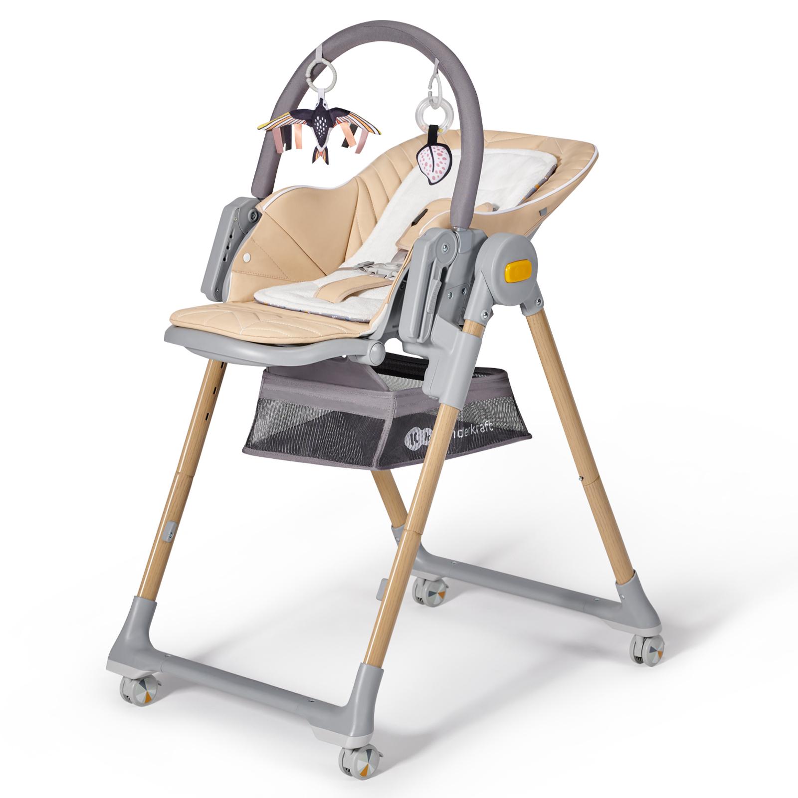 Стульчик для кормления Kinderkraft Lastree Wood с рождения