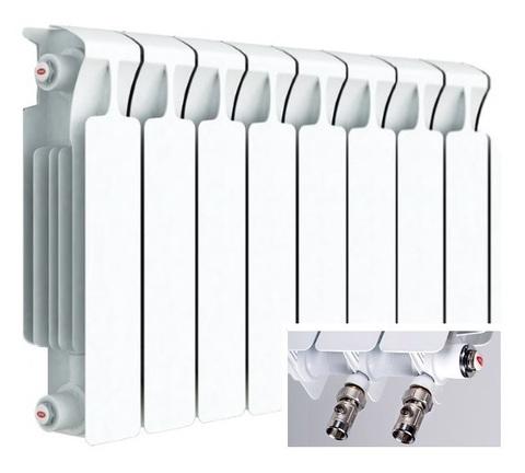 Rifar Monolit Ventil 350, 10 секций - радиатор биметаллический с нижним правым подключением