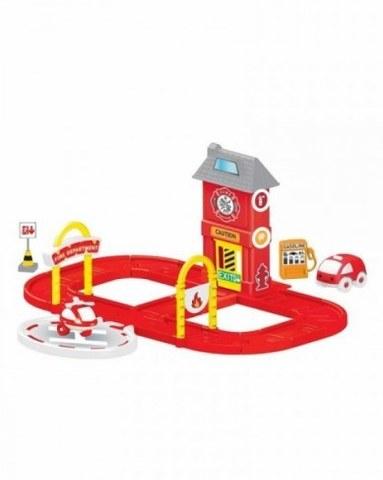 Игровой набор Dolu пожарная станция с круговой дорогой DL_5150