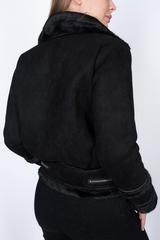 Дубленка черная короткая женская оптом