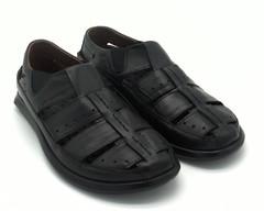Черные кожаные сандалии