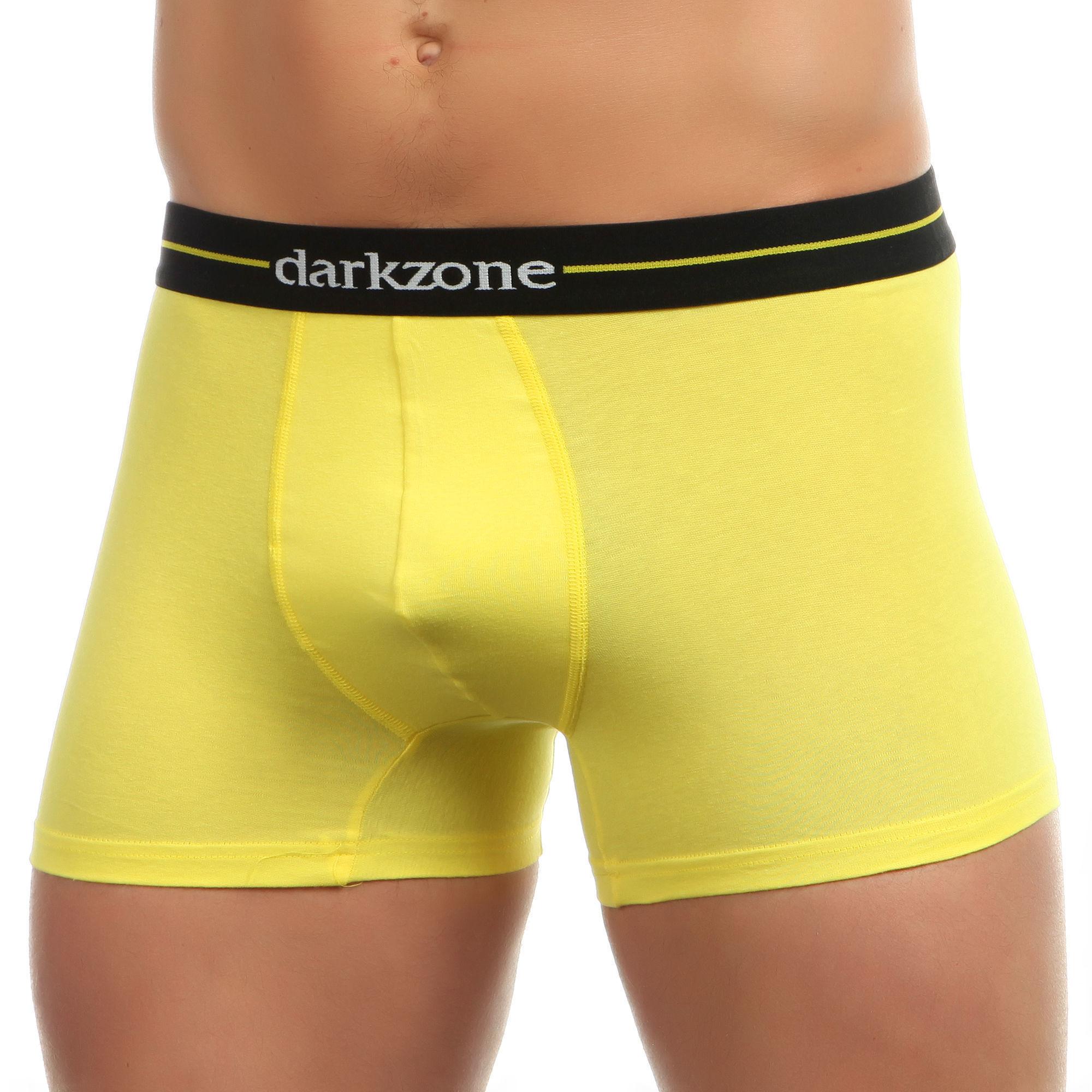 Мужские трусы боксеры желтые Darkzone DZN2059