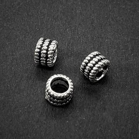 Рондель разделитель Точечки 4,7х3,3 мм серебро 925