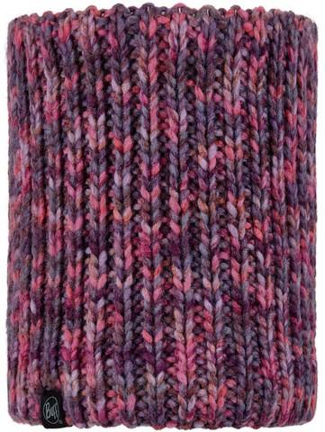Вязаный шарф-труба с флисом детский Buff Neckwarmer Knitted Polar Lera Purple фото 1