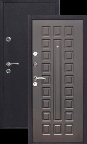 Дверь входная Йошкар Йошкар, 2 замка, 1,5 мм  металл, (медь антик+венге)